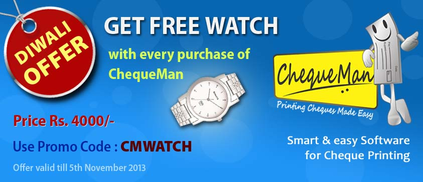 Get a free Sonata Wrist Watch with every purchase of ChequeMan